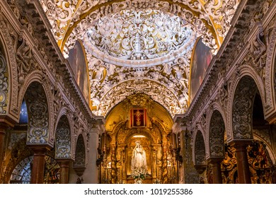 SEVILLE, ANDALUSIA, SPAIN, MAY, 25, 2017 : interiors  of  santa maria la blanca church, may 25, 2017, in Seville, andalusia, spain
