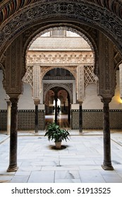 Seville, Arabic Arch as seen in Real Alcazar