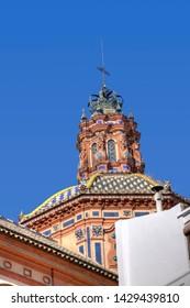 Seville arquitecture. Nice buildings near Maria Luisa park