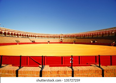 The Seville bull arena in Sevilla, Spain