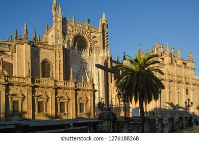 Seville Cathedral (Catedral de Sevilla). Catedral de Santa María de la Sede - (Andalusia, Spain), the largest gothic cathedral in Europe