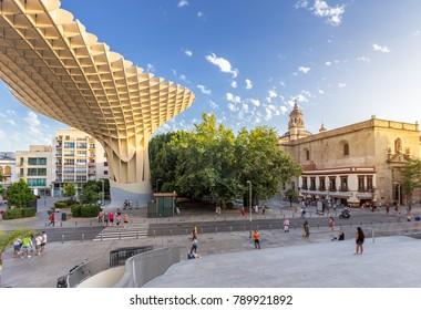 Seville city skyline in summer ,Spain