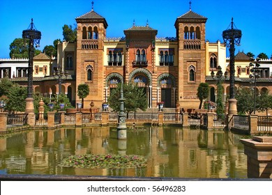 Seville. The pavilion of Moresque on the  America area.