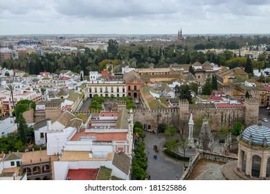 Seville rooftops as seen from La Giralda tower