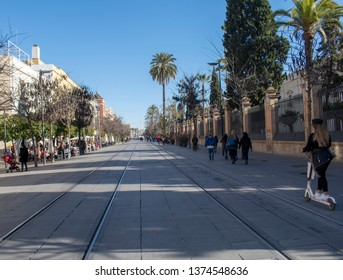 Seville Spain - Avenue of the Constitution