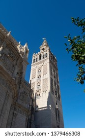 Seville Spain - Seville cathedral - the main tower view