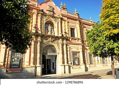 Seville, Spain - Jan 22, 2015: Museum of Fine Arts in Seville, Andalusia, Spain