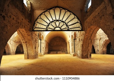 Seville, Spain - Jul 15, 2010: Reales Atarazanas, old medieval shipyards built in the 13th century by Alfonso X in Seville, Andalusia, Spain