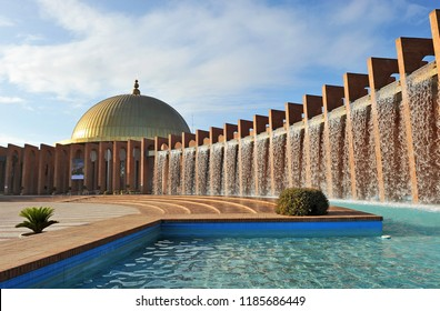 Seville, Spain - Jun 10, 2010: Palace of Exhibitions and Congresses Fibes of Seville, Andalusia, Spain