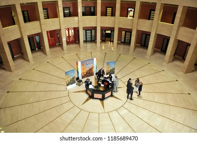 Seville, Spain - Jun 10, 2010: Inside the Palace of Exhibitions and Congresses Fibes of Seville, Andalusia, Spain