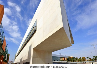 Seville, Spain - Jun 9, 2011: New Fibes, Palace of Exhibitions and Congresses of Seville, Andalusia, Spain