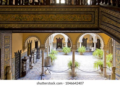SEVILLE, SPAIN, March 18, 2017: Palace of the Countess of Lebrija in Seville, Andalusia, Spain
