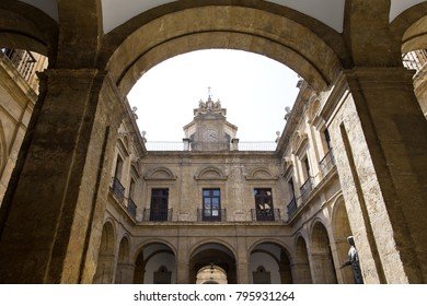 SEVILLE, SPAIN, March 18, 2017: The Royal Tobacco Factory in Seville, now University of Seville, Andalusia, Spain