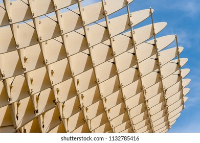 SEVILLE, SPAIN - MAY 24, 2012: Metropol Parasol Parasol building in Seville, Spain- design by J. MAYER H. Architects.