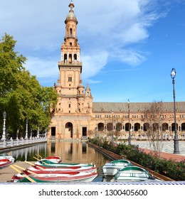 Seville, Spain - Plaza de Espana city square.