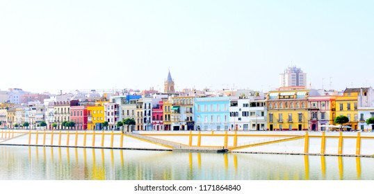 Seville, Spain. Sept 01, 2018. Triana district of Seville