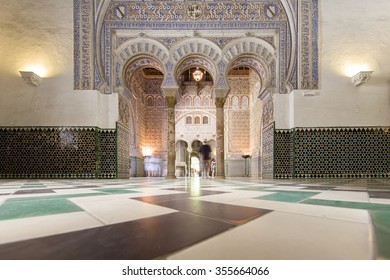 SEVILLE, SPAIN   SEPTEMBER 1: Interior Of The Wealthy Decorated Real  Alcazar, A