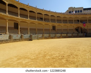 Seville, Spain - September 13, 2018: Seville Plaza de Toros de la Maestranza bullring is one of the main tourist attractions in the capital of Andalusia.