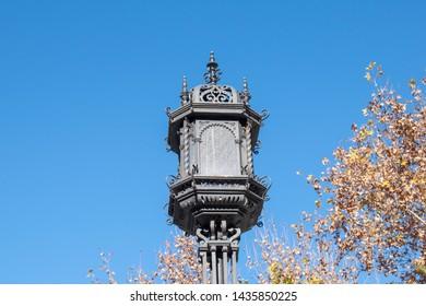 Seville Street lamp near Alcazar palace - Spain