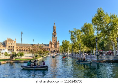 Seville/Andalucia - Spain - 08/14/18 - Plaza Espana in Seville