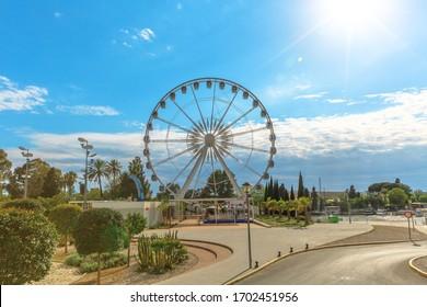 Seville's Ferris wheel located in the Prado de San Sebastian, Seville city, Andalusia, Spain.