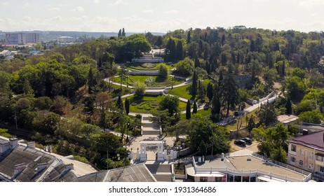 Sevostopol, Crimea - September 8, 2020: Malakhov Kurgan is a tactically important height of Sevastopol. One of the most visited tourist destinations in the city, Aerial View
