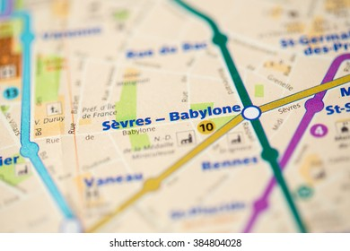 Sevres-Babylone Station. 10th Line. Paris. France