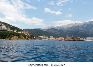 Sew view to the Town Budva in Montenegro