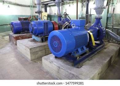 sewage pumping station. pump motors