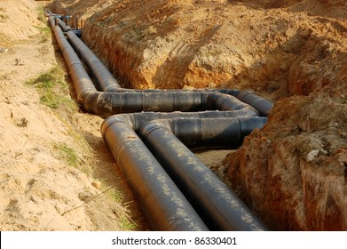 sewage or supply pipes, plumbing industry