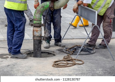 Sewer Lines Cleaning Service. Unblock a drain. Cleaning blocked sewer.