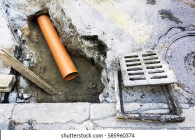 sewer pipes to  repair or  restore  in street city