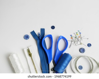 sewing accessories on a light background