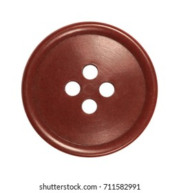 sewing button, red - brown, vintage