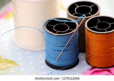 Sewing cotton and needle