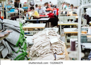 Sewing industry with laborers