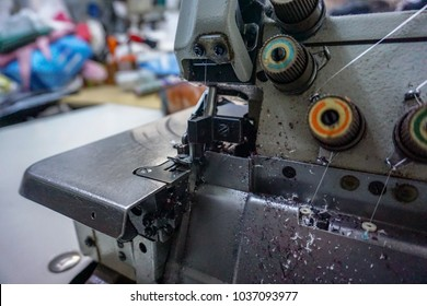 sewing machine closeup