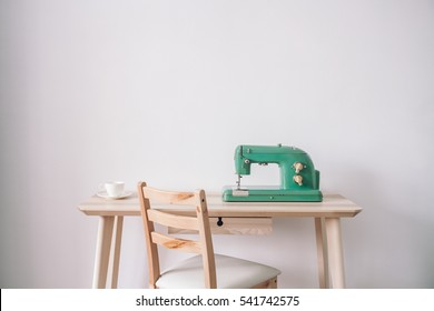 Sewing machine and coffee