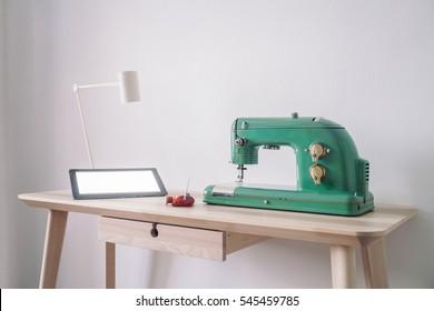 Sewing machine with ipad