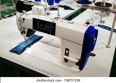 sewing machine in manufacturing factory