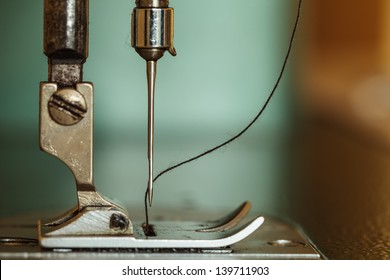 Sewing machine and thread rolling.