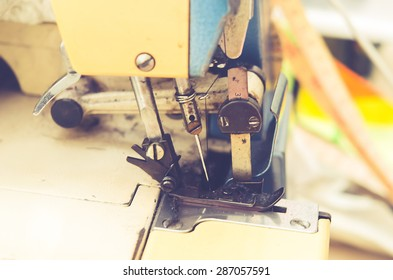 Sewing machine - vintage style effect picture