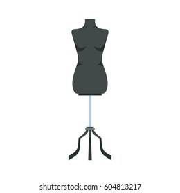 Sewing mannequin icon in flat style isolated on white background  illustration
