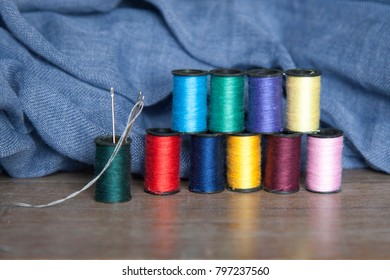 Sewing with needle and thread