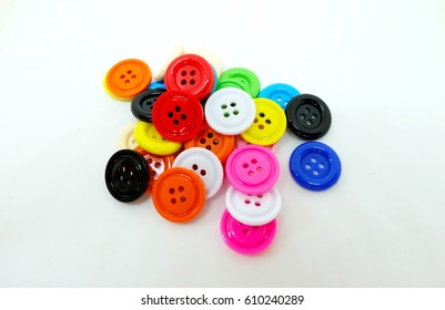 Sewing, Plastic Colorful buttons background, Buttons close up background