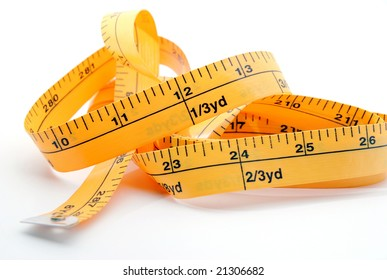 Sewing tape showing 12 inches and 24 inches