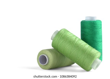 sewing thread on white background for designers