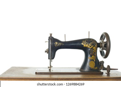 Sewing-machine on white