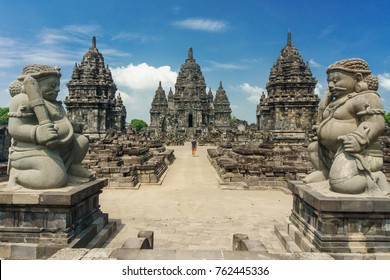 Sewu temple - Candi Sewu, eighth century Mahayana Buddhist temple located 800 meters north of Prambanan in Central Java, Indonesia.