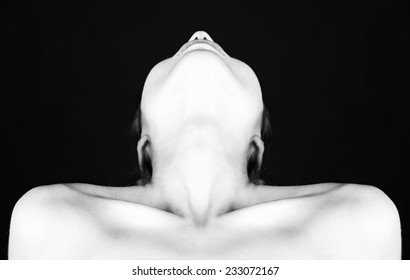 sex with black and white perfect clear skin nude body parts, studio, isolated on black